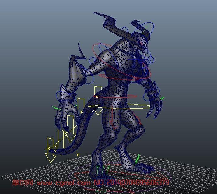 怪物高端绑定maya模型