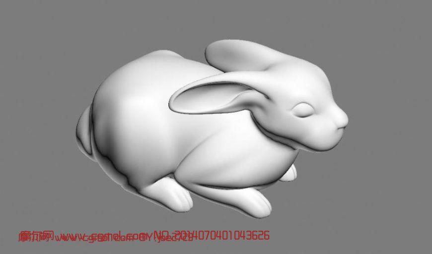 bunny兔子_哺乳动物_动物模型_3d模型,3d素材免费下载
