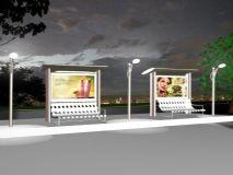 公交车站3D模型