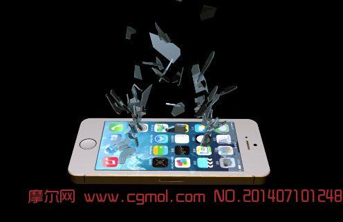 土豪金�O果iPhone5S屏幕破碎效果(需安�bBlastCode插件)