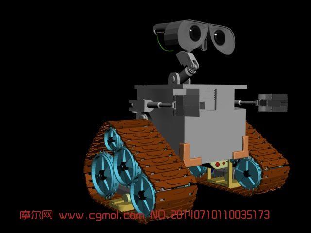 机器人瓦力_卡通角色_动画角色_3d模型免费下载_摩尔网