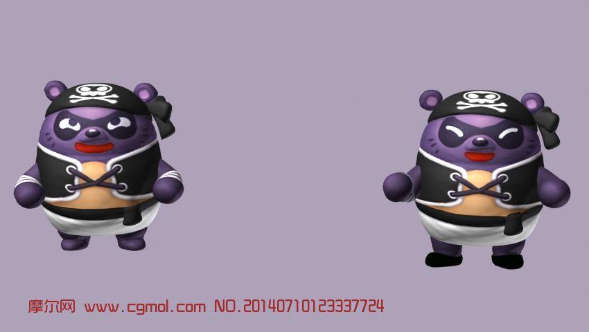 胖墩,泡泡战士 q版游戏角色3d模型