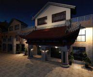 中式茶楼 门头 复古风