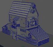 卡通森林木头房屋3D模型