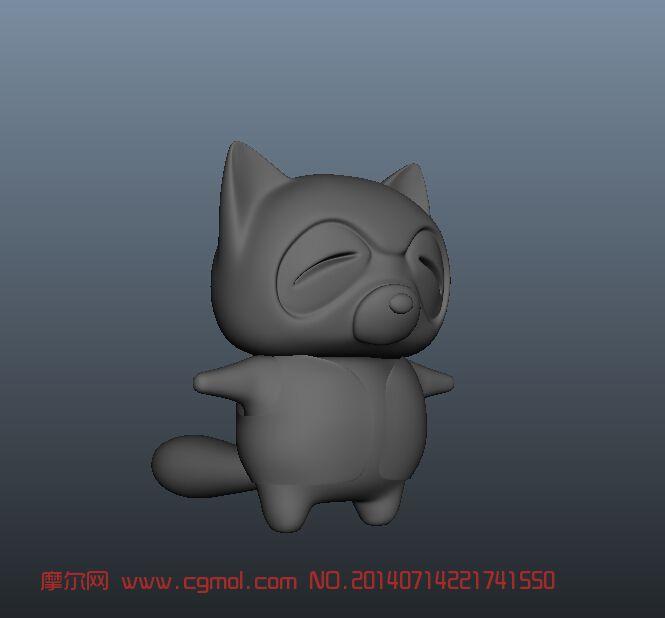 小浣熊_其他_动物模型_3d模型免费下载_摩尔网