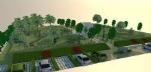 机关楼前庭院绿化