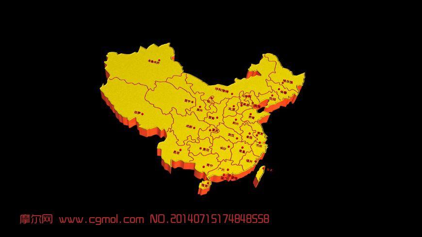 中国地图_基础设施_建筑模型_3d模型,3d素材免费下载图片