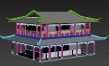 宋代四坡顶建筑3D模型