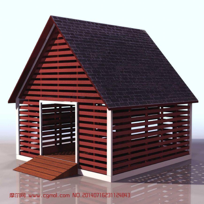 小房子,国外建筑3d模型