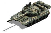 T80主战坦克带贴图