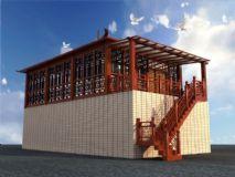 中式楼阁,中式房屋3D模型