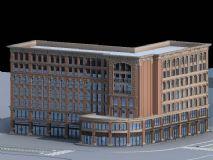 学校教学楼建筑模型