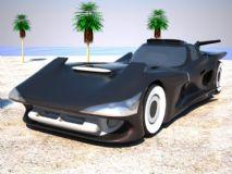 仿蝙蝠车 概念车