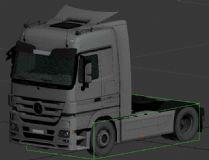 奔驰-货车,汽车3D模型