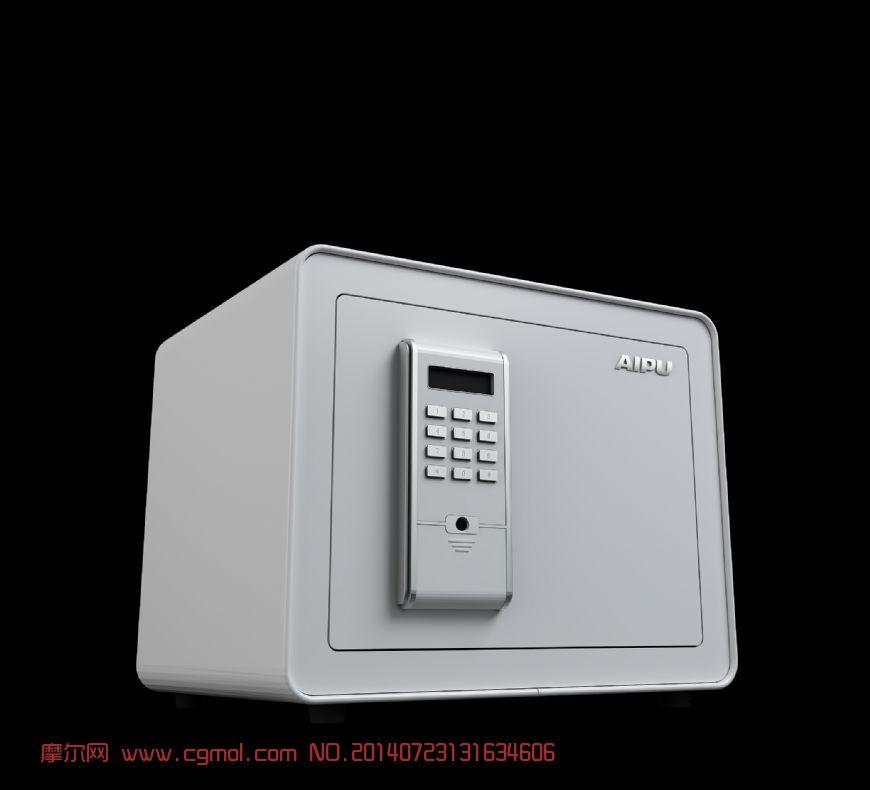 白色的保险箱模型,有内部结构的哦
