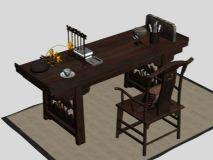 笔墨纸砚,古代文案,办公桌