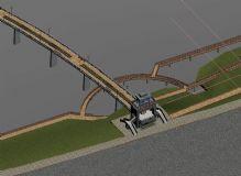 精细铁路桥3D模型