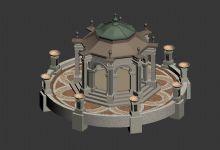 欧式亭子,景观亭3D模型