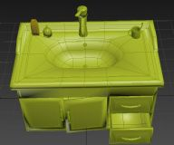 家庭式洗漱台3D模型