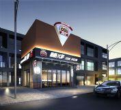 原创披萨店外门头模型