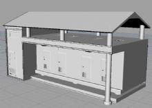 新型公用厕所3D模型