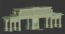 小区入口大门3D模型