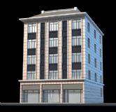 五层楼房,商铺3D模型