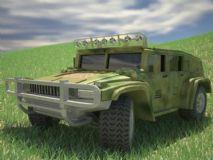 草地上的悍�R3D模型