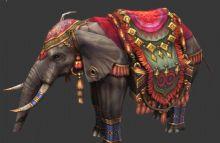 手绘超叼的-大象坐骑3D模型