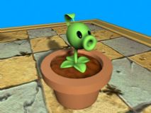 豌豆射手3D模型 植物大战僵尸2