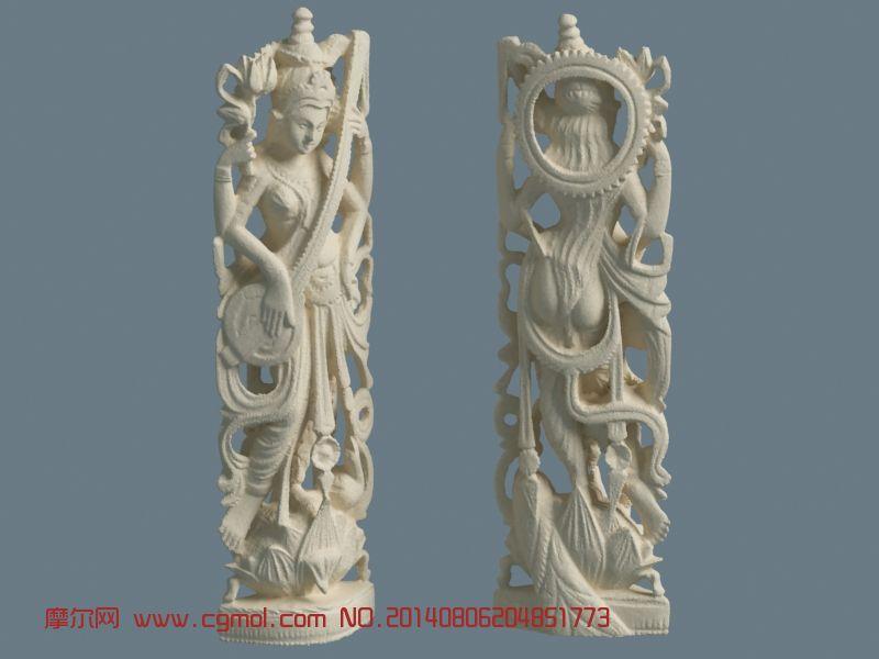 泰国风格的菩萨雕塑MAX模型