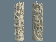 泰���L格的菩�_雕塑MAX模型