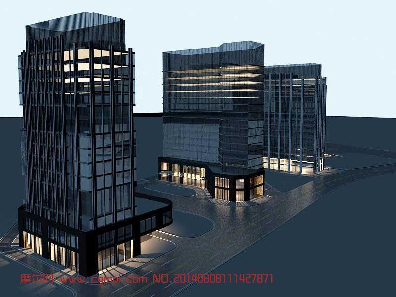 现代商业建筑3D模型