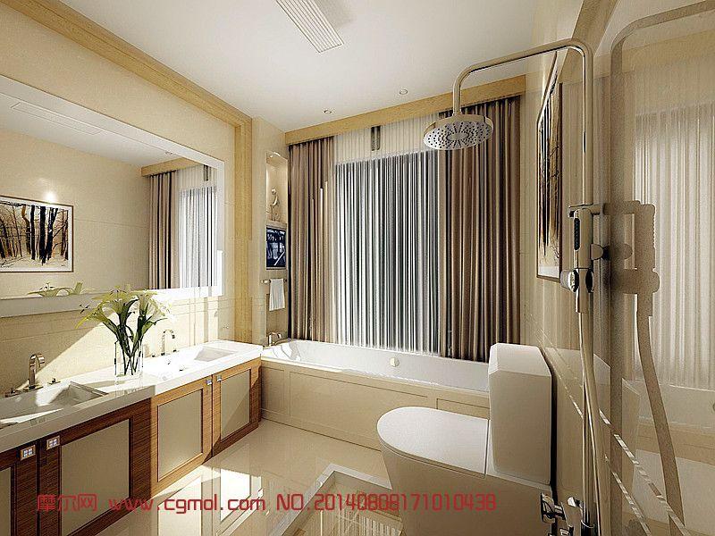洗手间,浴室3D模型