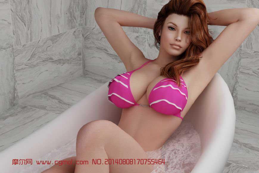 浴缸美女精细模型
