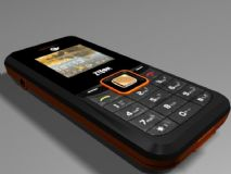 ZTE手机,小灵通手机3D模型