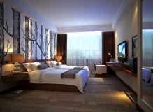 现代酒店标准间3D模型