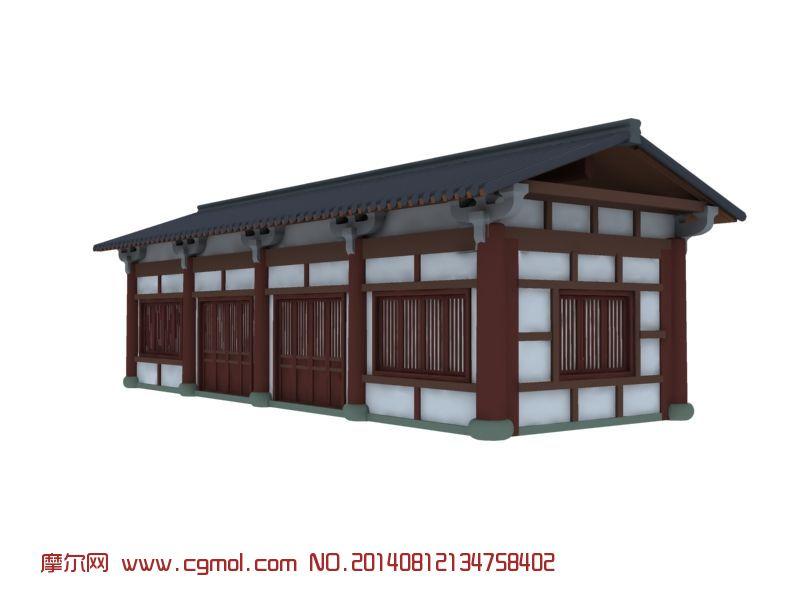 书院,书房,古建_中式建筑_建筑模型_3d模型免费下载