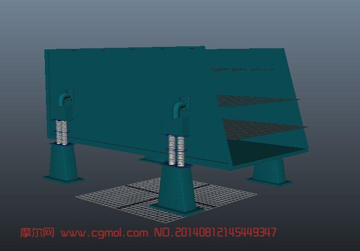 振动筛(弹簧已绑定,可做动画)