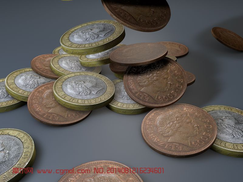 古罗马金币掉落动画模型