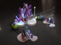 矿山走秀舞台3D模型