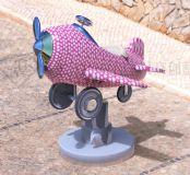 卡通飞机,儿童玩具3D模型