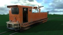 煤矿矿区电机车3D模型