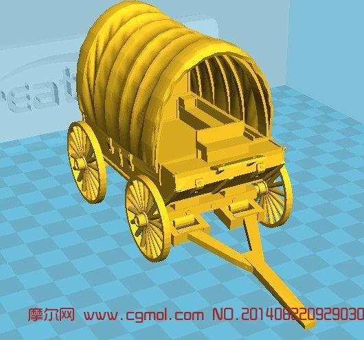 马车_其他_运输模型_3d模型免费下载