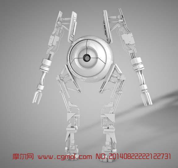 独眼机器人3d模型_机械角色