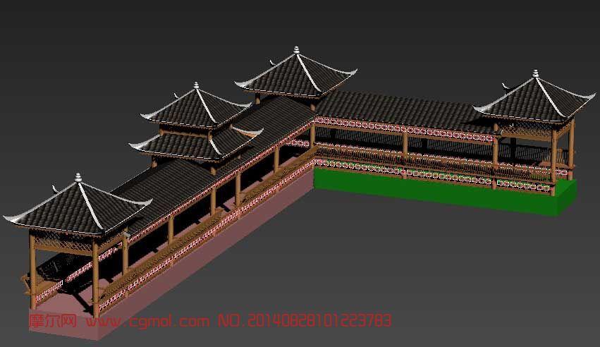 苗族桥建筑_中式建筑_建筑模型_3d模型免费下载_摩尔网