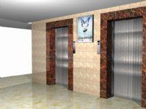 电梯间场景maya模型