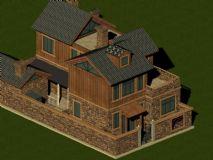 树木风格的别墅