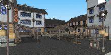 古代大型市场场景,酒坊模型