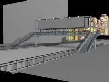 城市天桥模型